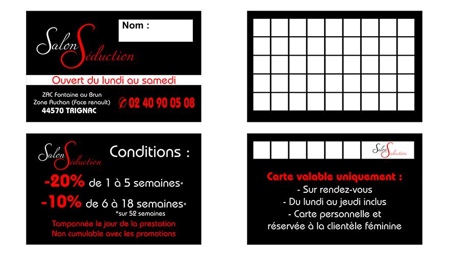 Carte De Visite Recto 54x85mm Fidlit 2 Volets Verso